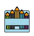 colors box icon vector image vector image