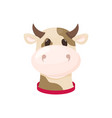 cow farm animal cute cartoon cattle vector image