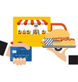 delivery food vector image
