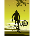 extreme biker vector image