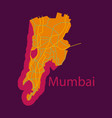 flat icon map of mumbai vector image vector image