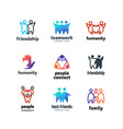 friendship community friendly team people together vector image vector image
