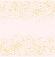 gold glitter dot and pastel pink empty background vector image