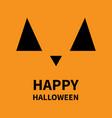 happy halloween pumpkin smiling face emotion big vector image vector image