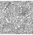 hippie hand drawn doodles seamless pattern hippy vector image vector image