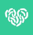 i love white socks heart and clean sock vector image