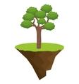 icon tree bonsai design vector image