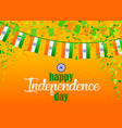 indian independence day 4 vector image vector image