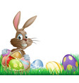 isolated easter footer design vector image vector image