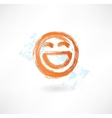 laugh grunge icon vector image vector image