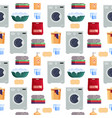 laundry service seamless pattern house cleaning vector image vector image