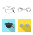 law and lawyer sign set of vector image vector image