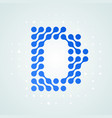 letter d logo halftone icon vector image vector image