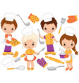 Little Chefs Set vector image