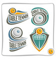 logo table tennis ball vector image vector image