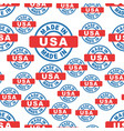 made in usa seamless pattern background icon flat vector image