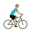 male athlete practicing biking isolated icon vector image vector image