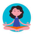 meditation woman beautiful young character vector image vector image