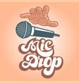 mic drop logo vector image