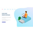 online education person with laptop vector image