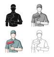 painterprofessions single icon in cartoon style vector image
