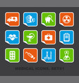 pharma and healthcare icons on stickers vector image vector image