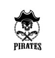 pirate jolly roger icon for piracy flag vector image vector image