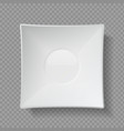 realistic food plates 3d empty utensil ceramic vector image