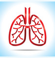 red ribbon lung logo vector image vector image