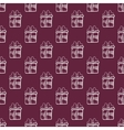 seamless gift pattern on burgundy color background vector image vector image
