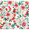 seamless pattern of red tropical flower vector image vector image
