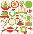 Set of Christmas Winter Labels Icons Flat vector image vector image