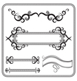 set of frames decorated with swirls The vector image vector image