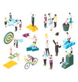 successful people icon set vector image