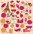 symbols of paris vector image vector image
