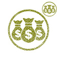 Three money bag simple single color icon isolated vector image