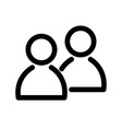 two people icon symbol of group or pair of vector image vector image
