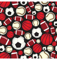 various sport balls seamless color black pattern vector image vector image