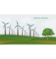 wind turbines on clean field concept of clean vector image vector image