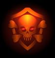biker club poster with skull emblem vector image