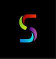 Abstract logo for letter S vector image