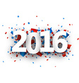 2016 New Year sign vector image vector image