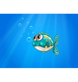 A bubble fish under the sea vector image vector image