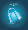 a locked lock on light blue background the system vector image