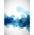 Abstract blue bubbles with place for your own text vector image vector image