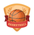 basketball emblembasketball single icon in vector image vector image