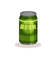 beer in bright green aluminium can popular vector image