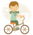 BOY ON A BYCICLE vector image vector image