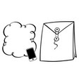 bubble template and big envelope vector image