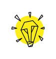 bulb lamp idea think geometric polygonal logo icon vector image vector image